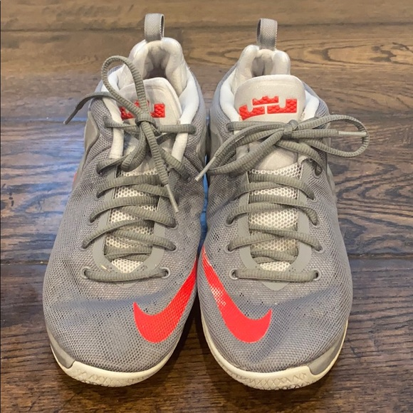 Nike Shoes | Boys Lebron Zoom Grey Red
